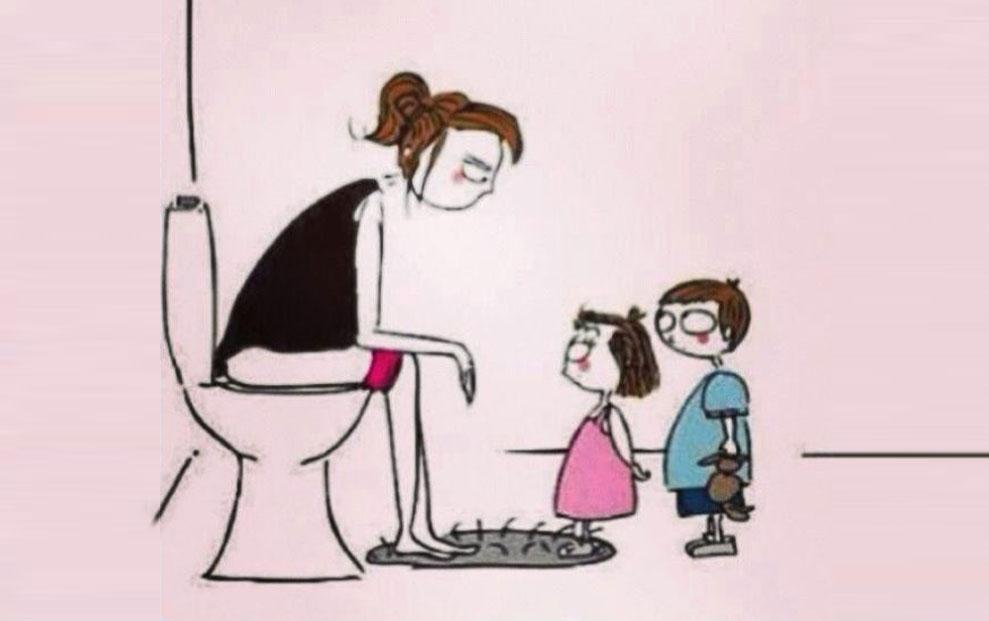 Pravila kada je mama na WC-u.